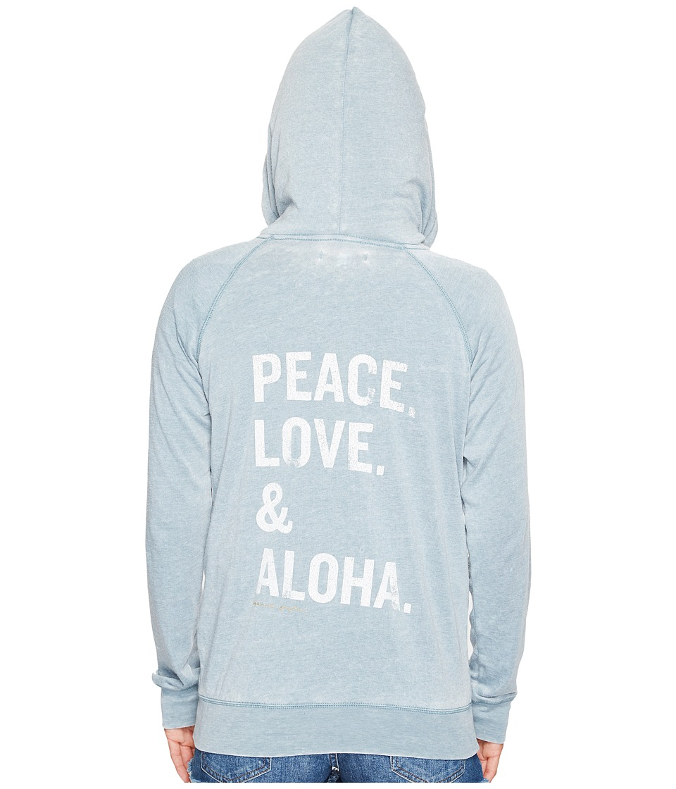 Spiritual Gangster - PLA Stacked Dharma Zip Hoodie (Tropic) Women's Sweatshirt