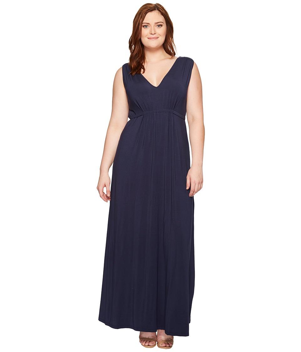 Tart Plus Size Grecia Maxi (Black Iris) Women