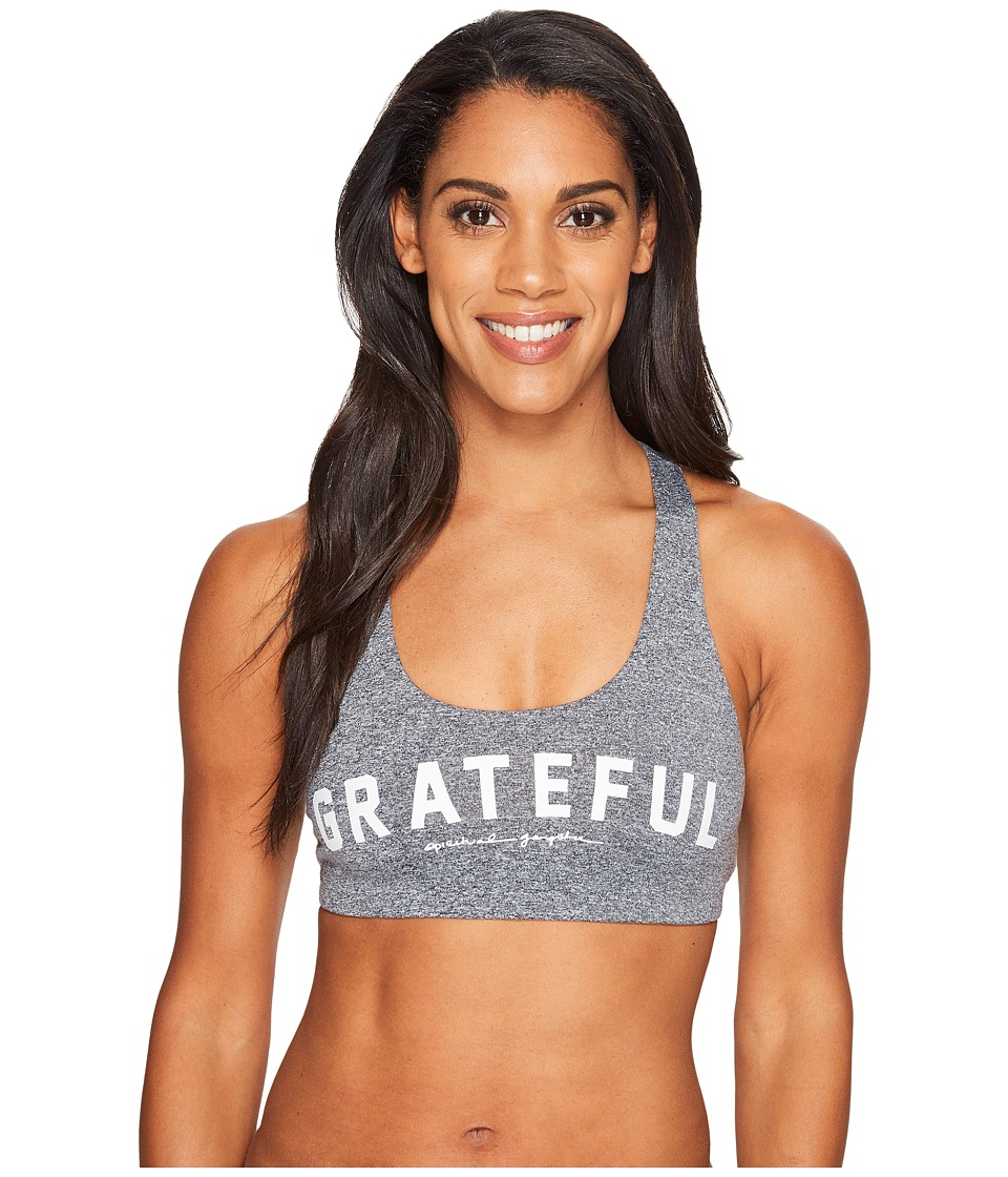 Spiritual Gangster - Grateful Arch Paradise Bra (Heather Grey) Women's Bra