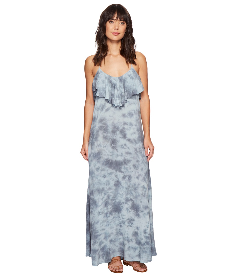 Blue Life - Enchanted Tie Back Ruffle Dress (Sage Gray) Women's Dress