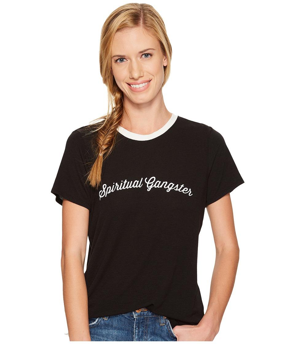 Spiritual Gangster - SG Script Zen Tee (Black) Women's T Shirt
