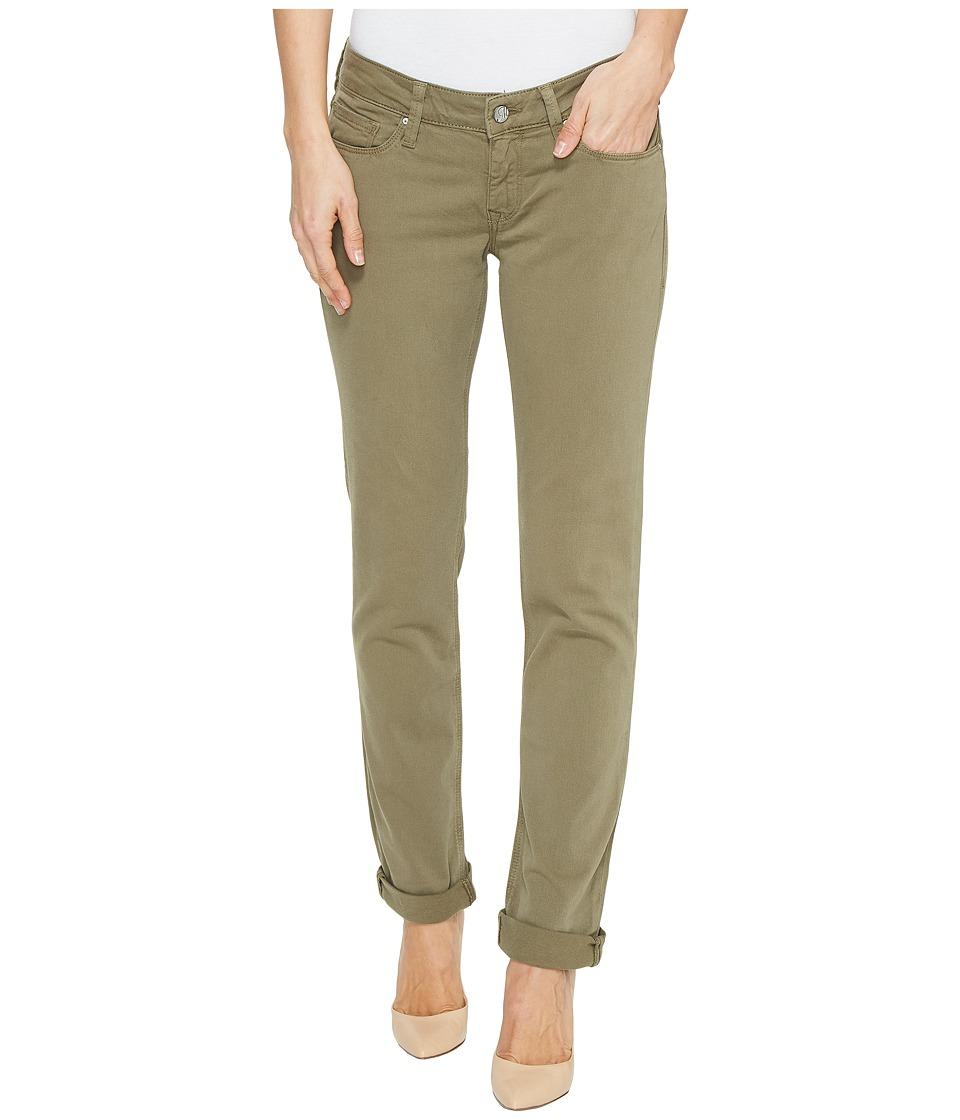 Mavi Jeans - Emma Slim Boyfriend in Silver Green Twill (Silver Green Twill) Women's Jeans