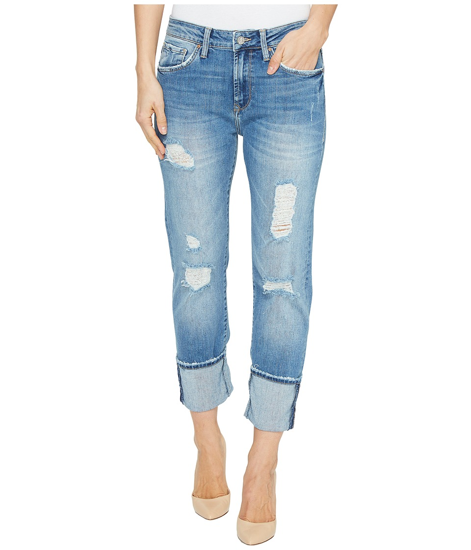 Mavi Jeans Brenda High-Rise Boyfriend in Light Indigo Vintage (Light Indigo Vintage) Women