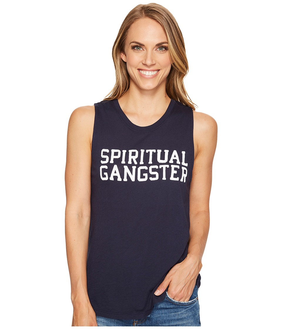 Spiritual Gangster - SG Varsity Muscle Tank Top (Blue Moon) Women's Sleeveless