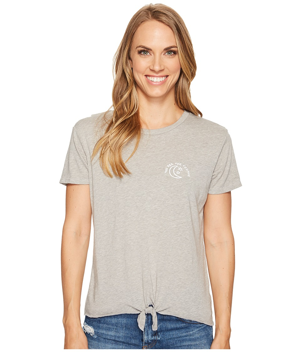 Spiritual Gangster - The Cosmos Mahalo Tee (Heather Grey) Women's T Shirt