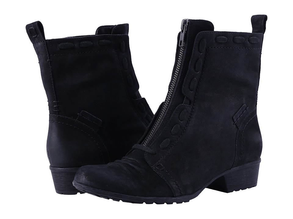 Rockport Cobb Hill Collection Cobb Hill Gratasha Zip Boot (Black Nubuck) Women