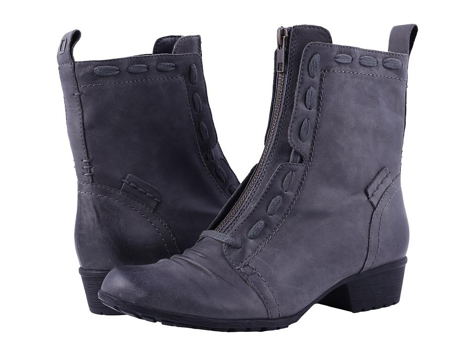 Rockport Cobb Hill Collection Cobb Hill Gratasha Zip Boot (Dark Grey Nubuck) Women