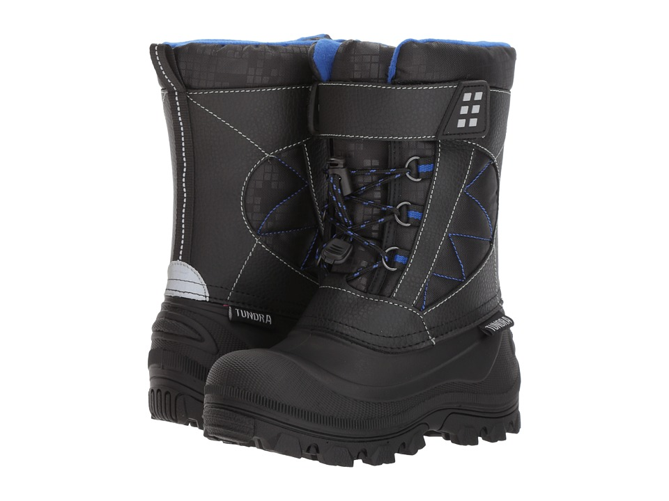 Tundra Boots Kids Nova (Little Kid/Big Kid) (Black/Royal 1) Boys Shoes