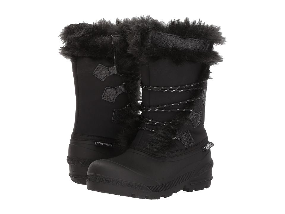 Tundra Boots Kids Carol (Little Kid/Big Kid) (Black) Girls Shoes