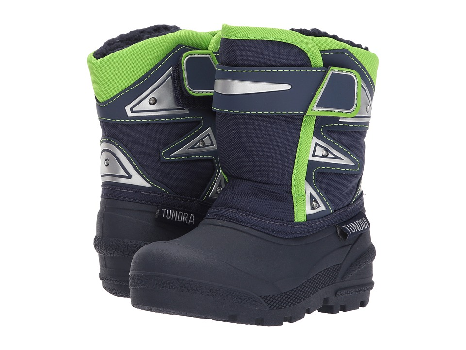 Tundra Boots Kids Midnight (Toddler) (Navy/Lime) Boys Shoes