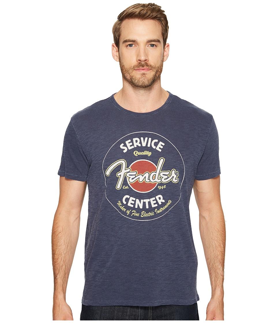 Lucky Brand - Fender Repair Graphic Tee (American Navy) Men's T Shirt