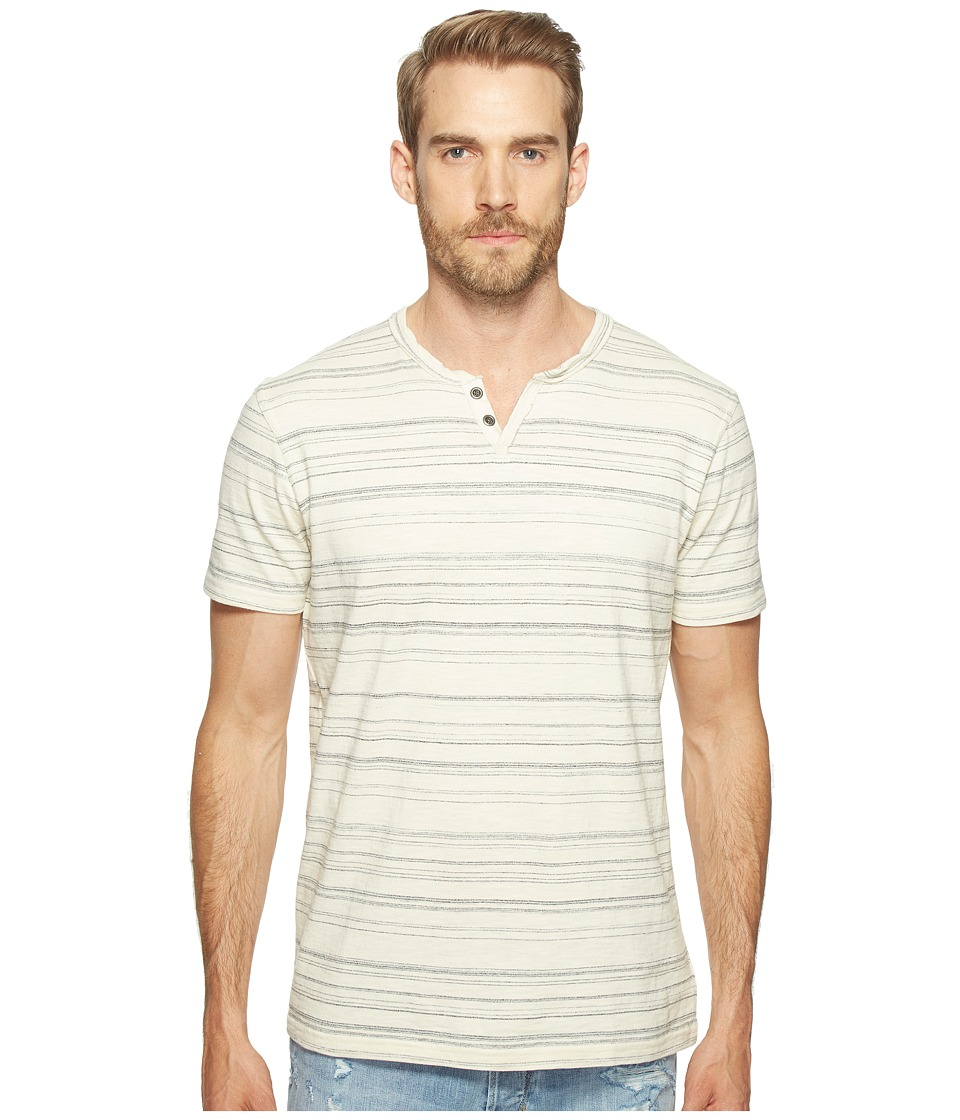 Lucky Brand Burnout Notch Neck Tee (Multi) Men