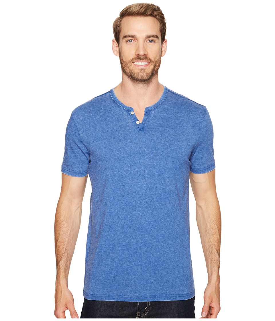 Lucky Brand - Burnout Notch Neck Tee (Monaco Blue) Men's T Shirt