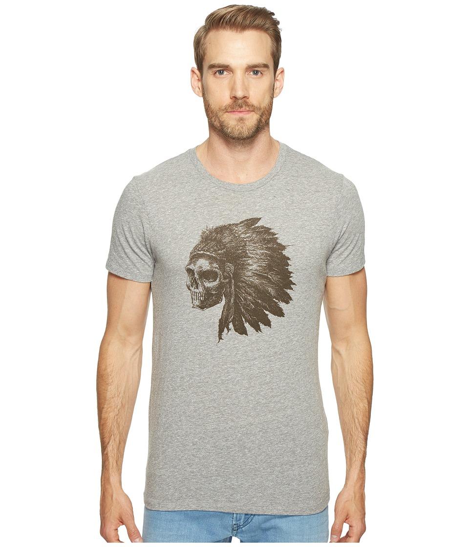 Lucky Brand - Skull Headdress Graphic Tee (Quiet Shade) Men's T Shirt