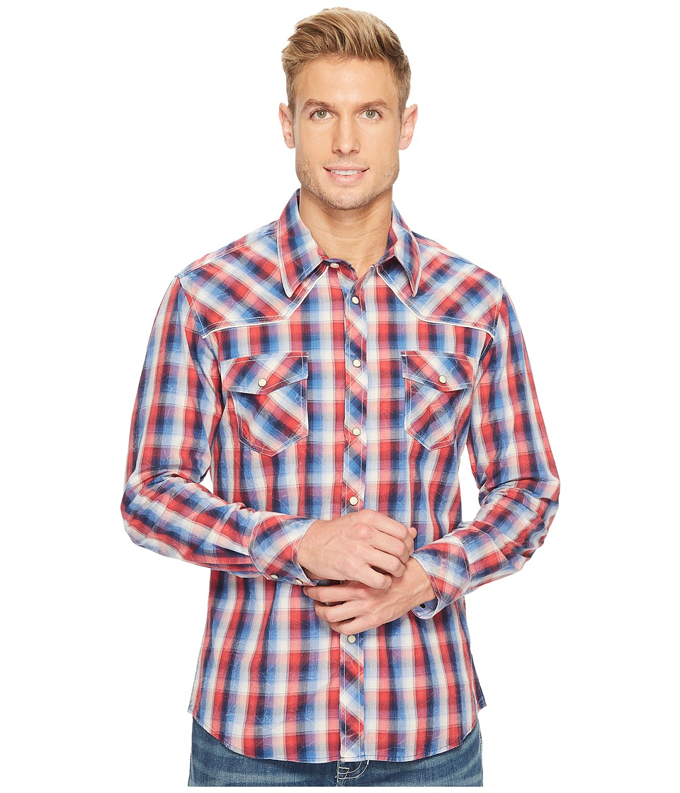 Rock and Roll Cowboy - Long Sleeve Snap B2S3122 (Red) Men's Clothing