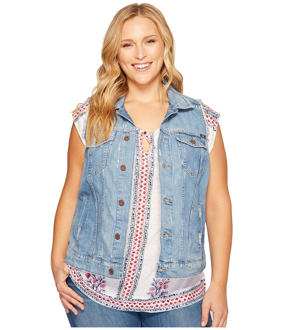 Lucky Brand Plus Size Plus Tomboy Trucker Vest (Bangs) Women