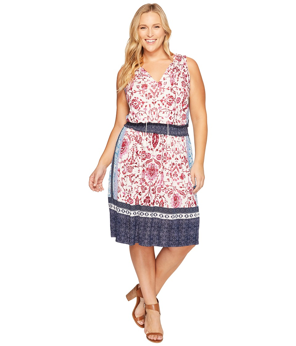 Lucky Brand - Plus Size Kerry Knit Dress (Pink Multi) Women's Dress