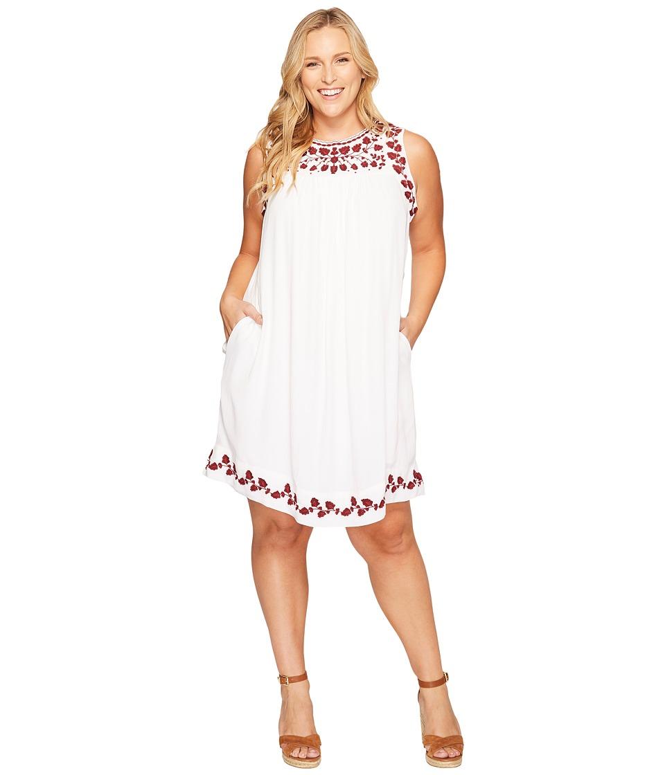 Lucky Brand - Plus Size Hannah Shift Dress (Lucky White) Women's Dress