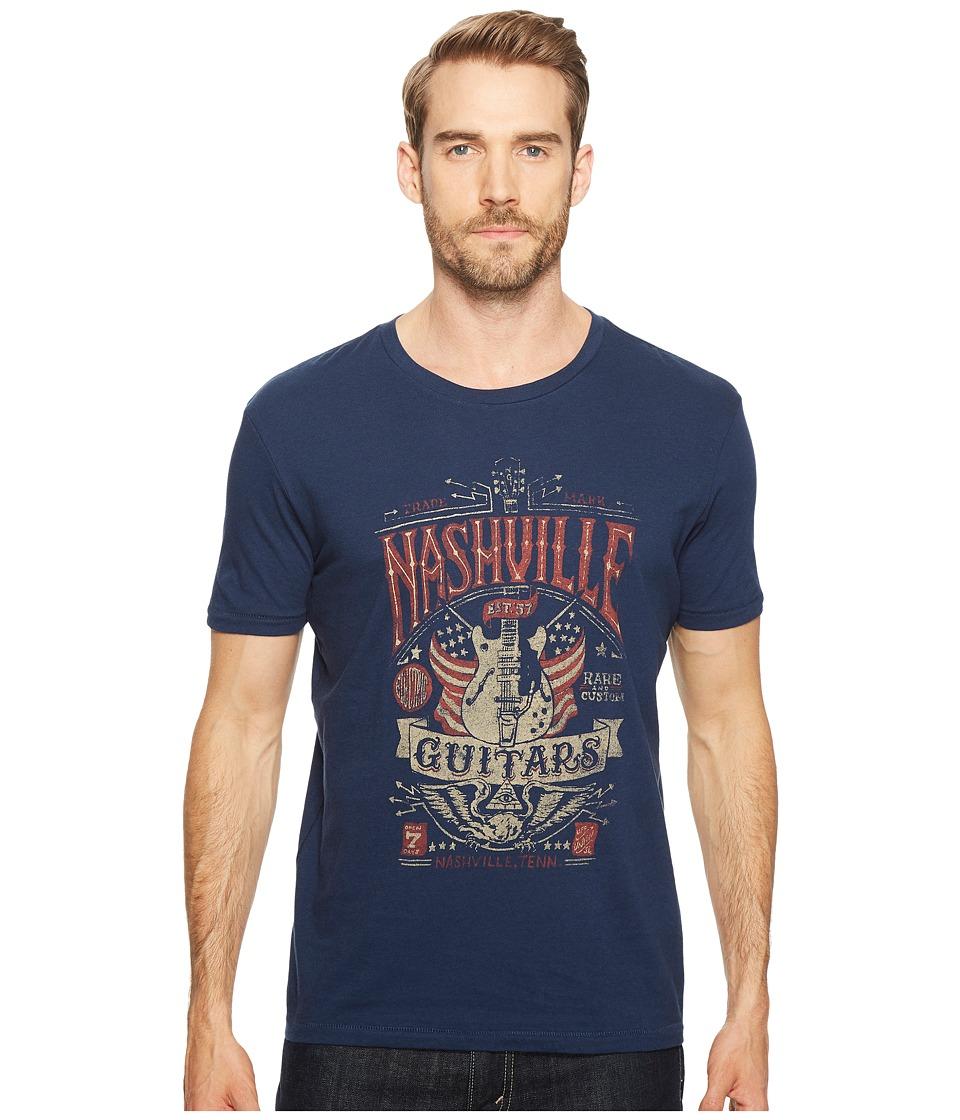 Lucky Brand - Nashville Guitar Flag Graphic Tee (American Navy) Men's T Shirt