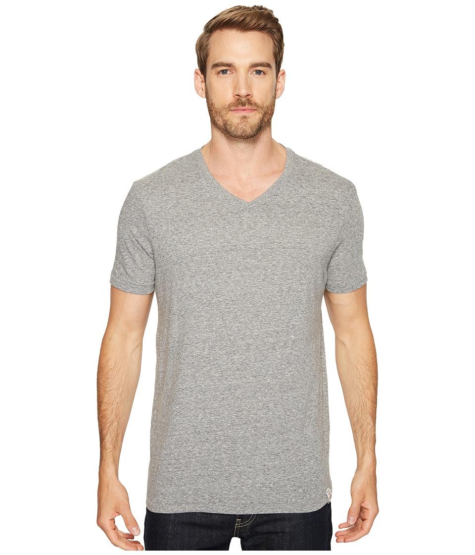 Lucky Brand - V-Neck Tee (Grey) Men's T Shirt