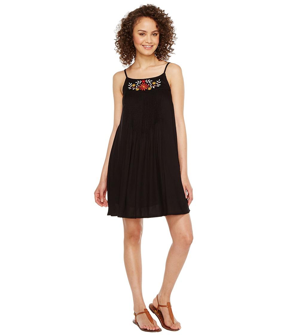 Roper - 1154 Rayon Crepe Tank Dress (Black) Women's Dress