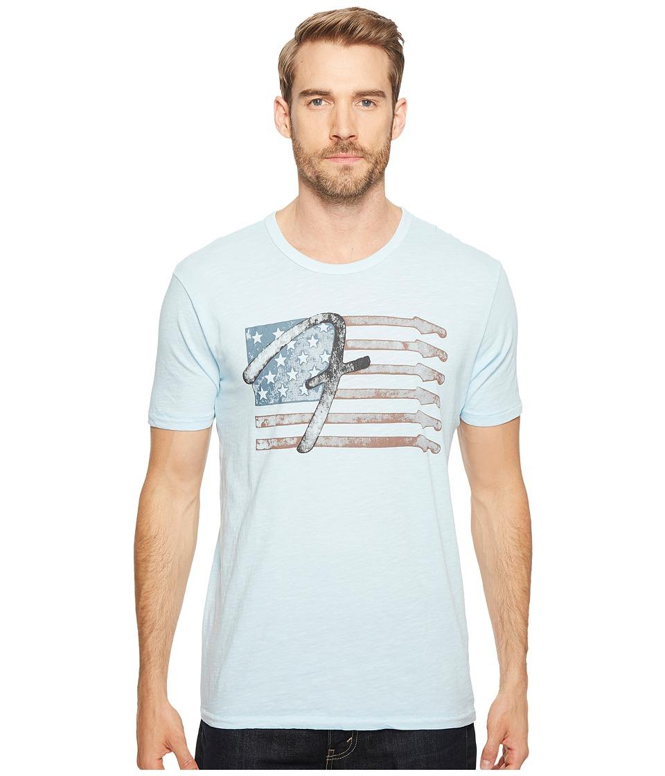 Lucky Brand - Fender Flag Graphic Tee (Spring Blue) Men's T Shirt