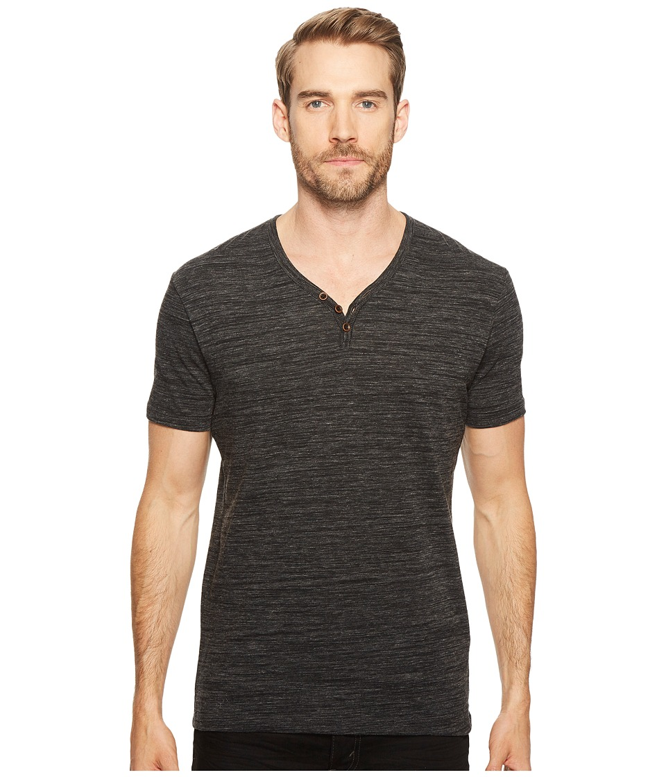 Lucky Brand - Y-Neck Tee (Black Mountain) Men's T Shirt