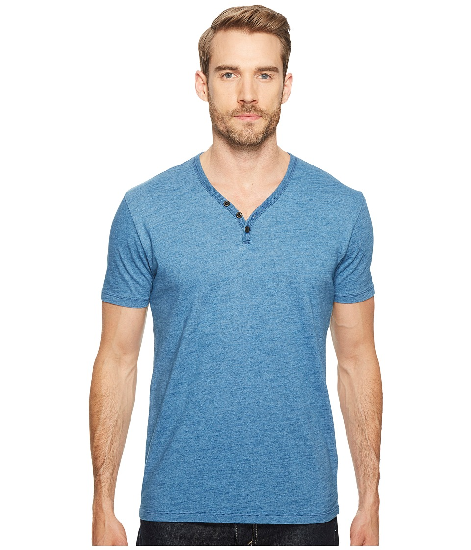 Lucky Brand - Indigo Y-Neck Tee (Indigo) Men's T Shirt