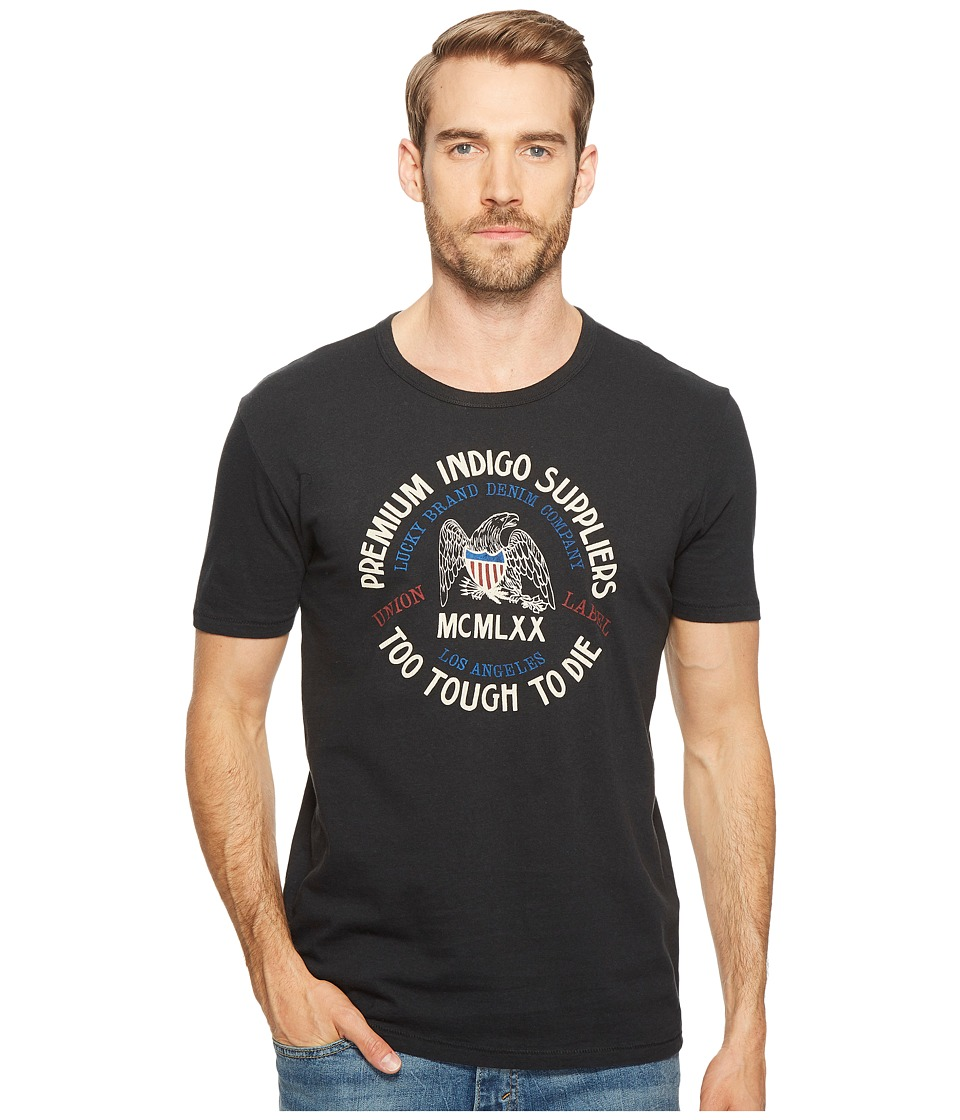 Lucky Brand - Eagle Logo Graphic Tee (Jet Black) Men's T Shirt