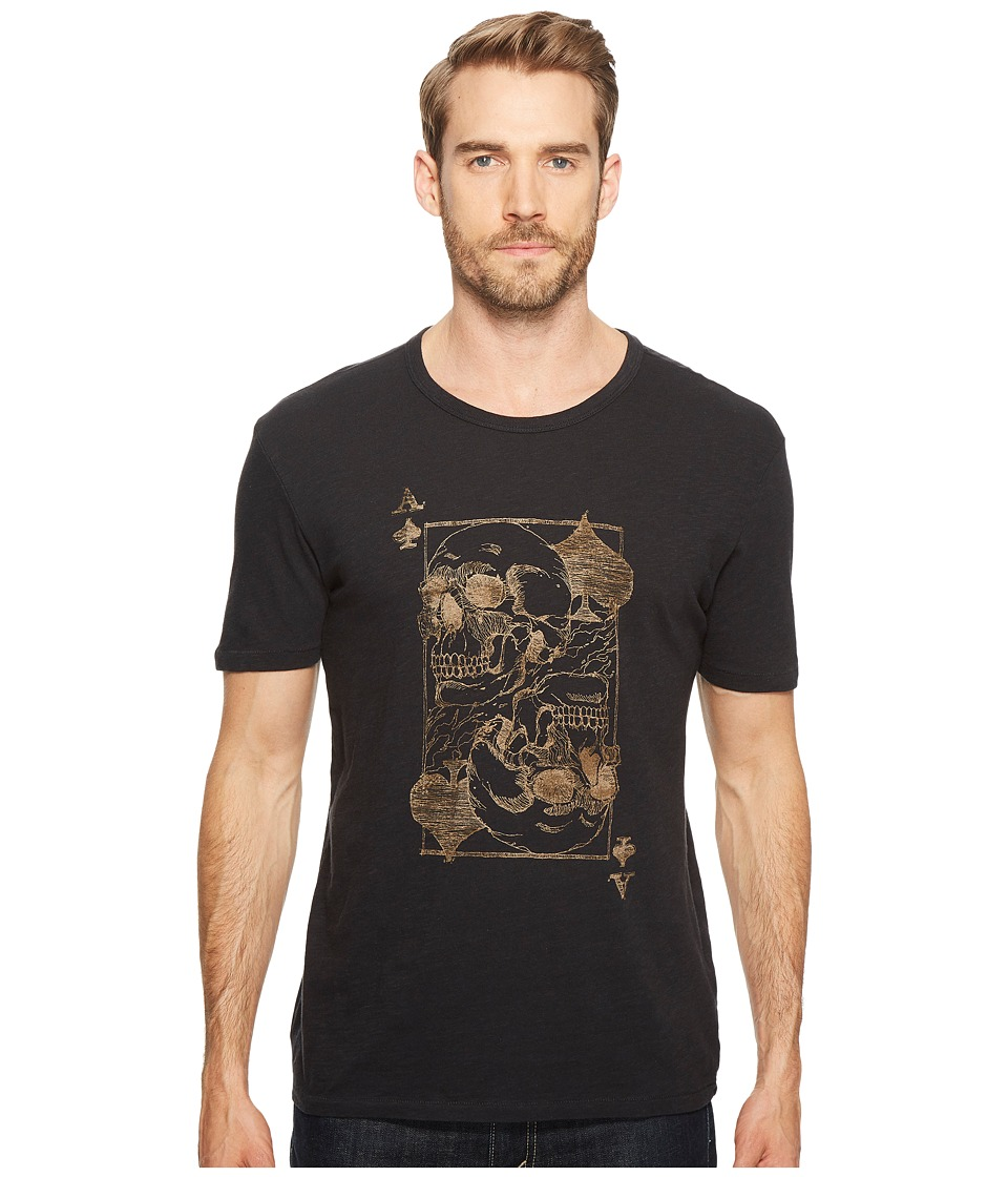 Lucky Brand - Ace Skulls Graphic Tee (Jet Black) Men's T Shirt