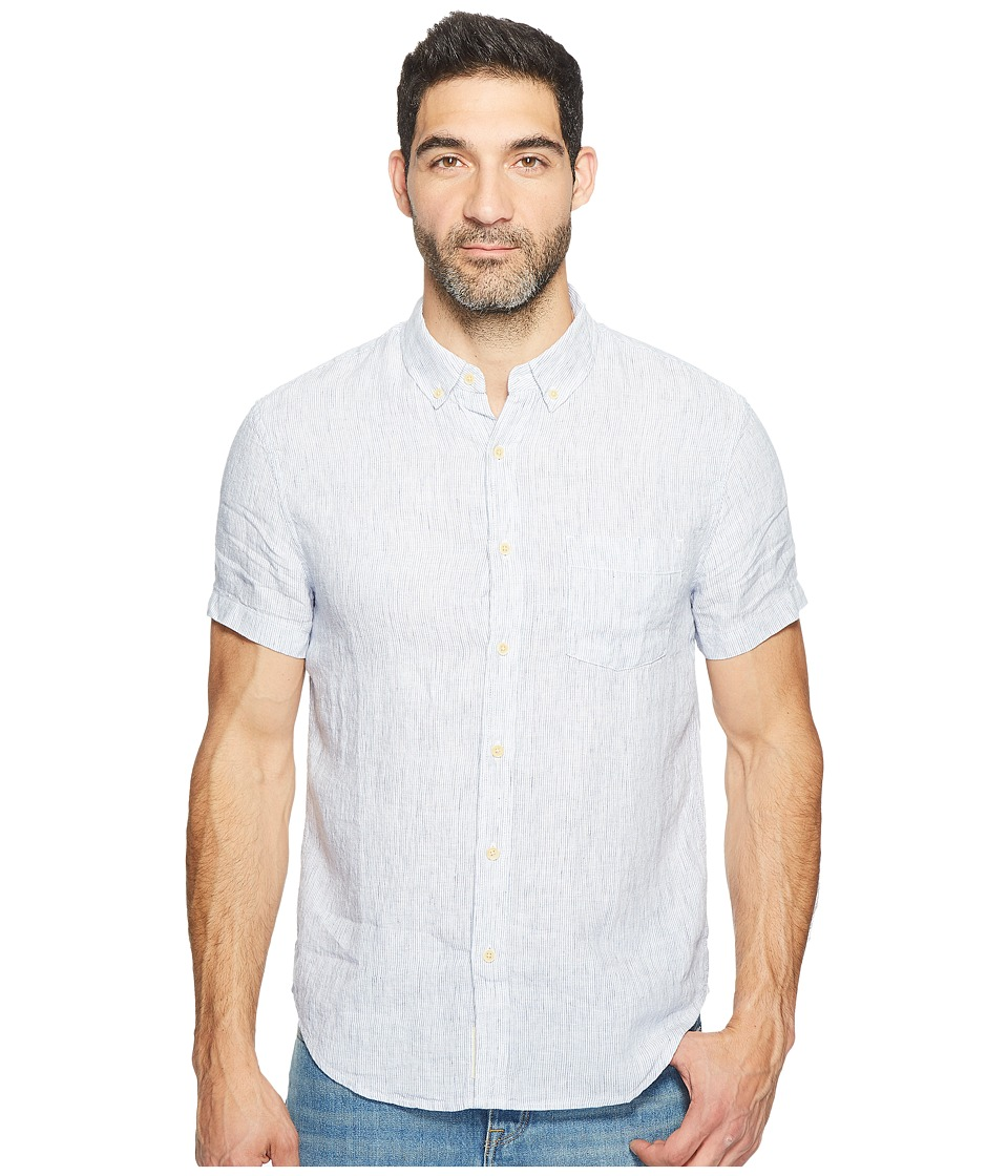 Lucky Brand Linen One-Pocket Shirt (Multi Stripe) Men