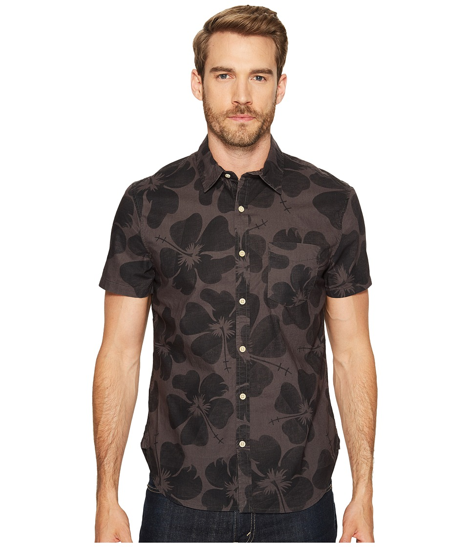 Lucky Brand - Short Sleeve Ballona Shirt (Black Multi) Men's Short Sleeve Button Up