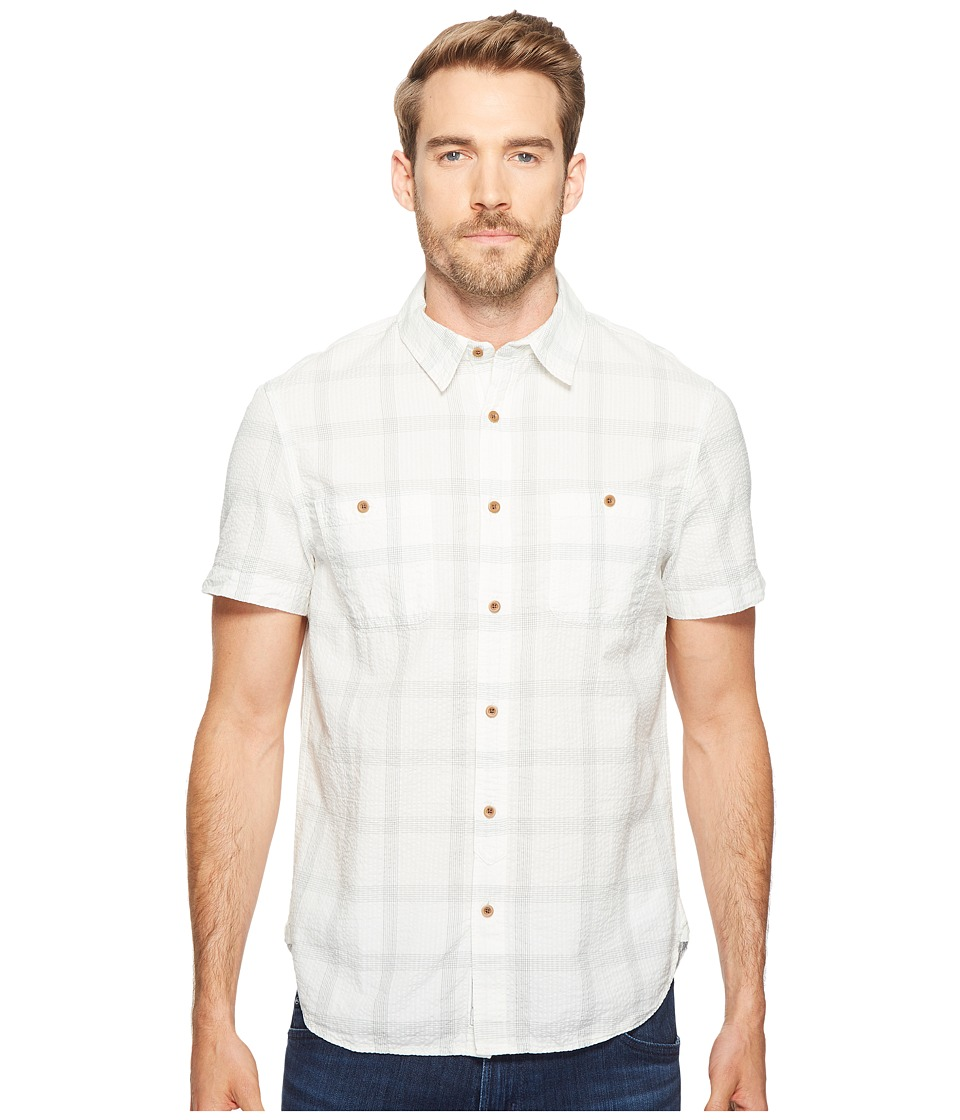 Lucky Brand - Seersucker Mason Shirt (Natural/Grey) Men's Clothing