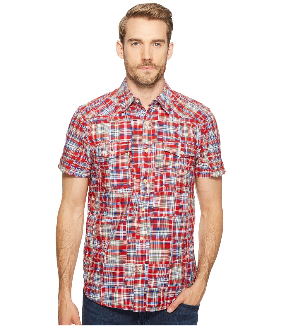 Lucky Brand - Patchwork San Berdu Western Shirt (Red Multi) Men's Clothing