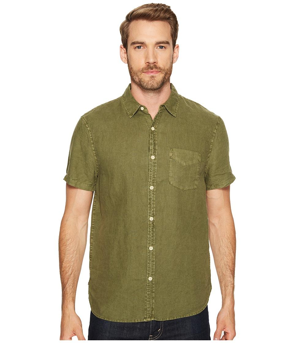 Lucky Brand - Shore Linen Ballona Shirt (Green) Men's Clothing