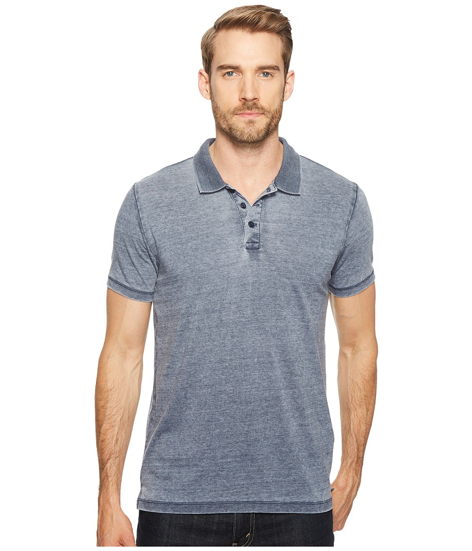 Lucky Brand - Burnout Polo (American Navy) Men's Clothing