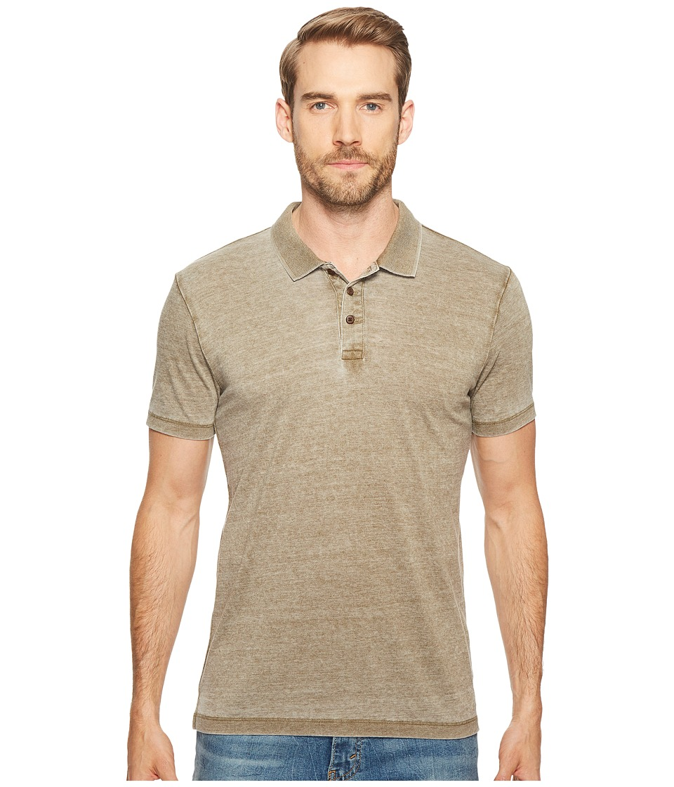Lucky Brand - Burnout Polo (Dark Olive) Men's Clothing