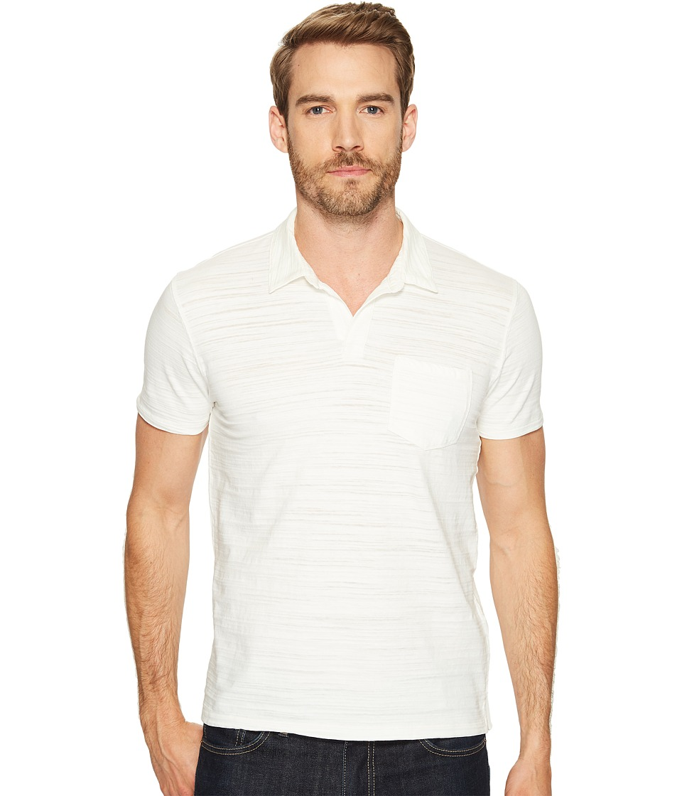 Lucky Brand - Johnny Collar Polo (Marshmallow) Men's Clothing
