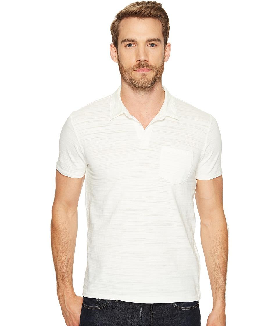 Lucky Brand - Johnny Collar Polo (Marshmallow) Men's Clothing