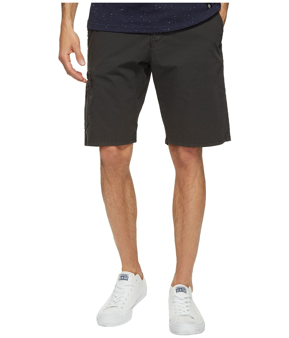 Lucky Brand - Rip Stop Utility Shorts (Jet Black) Men's Shorts