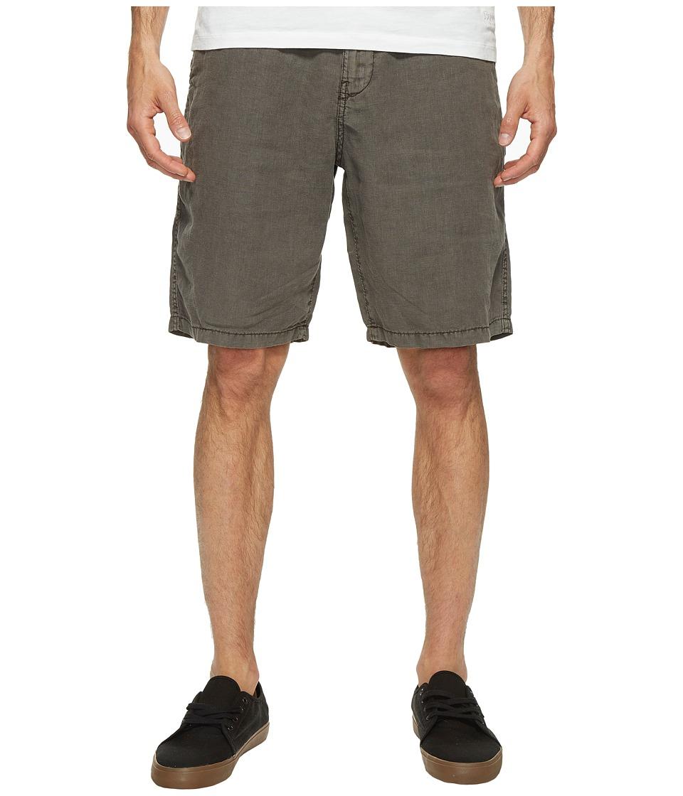 Lucky Brand Linen Flat Front Shorts (Raven) Men