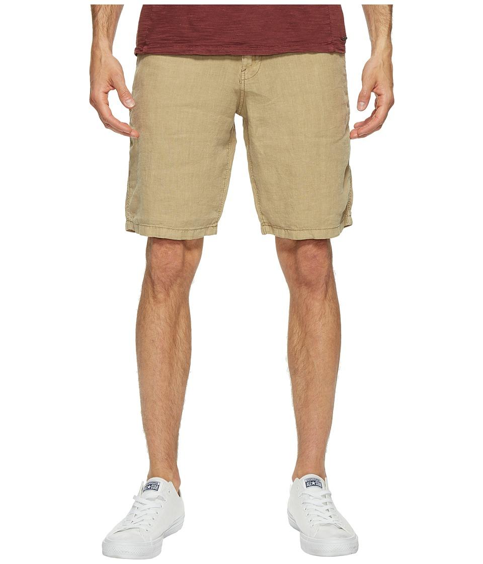 Lucky Brand - Linen Flat Front Shorts (Twill) Men's Shorts