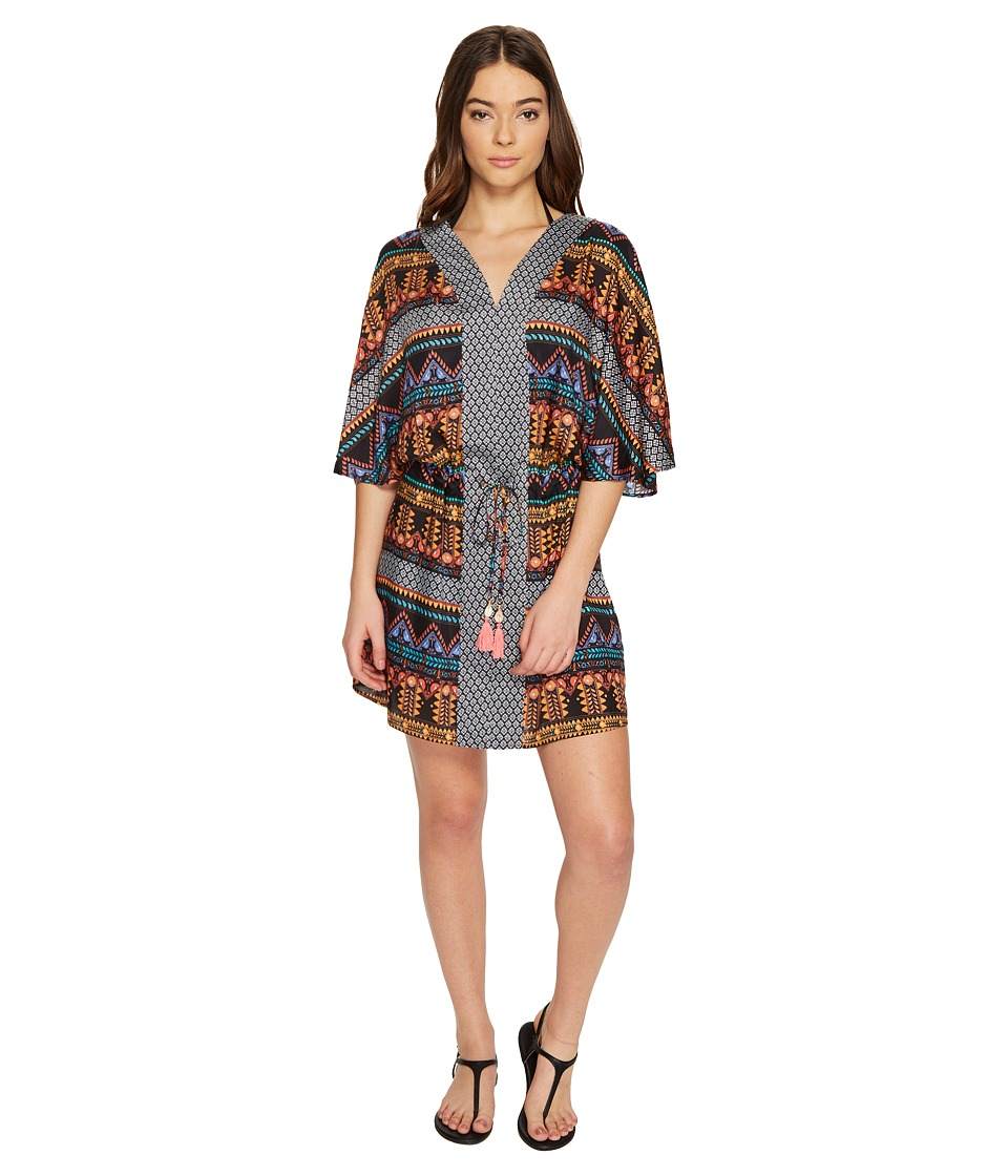 Seafolly Bead Folk Kaftan Cover-Up (Black) Women