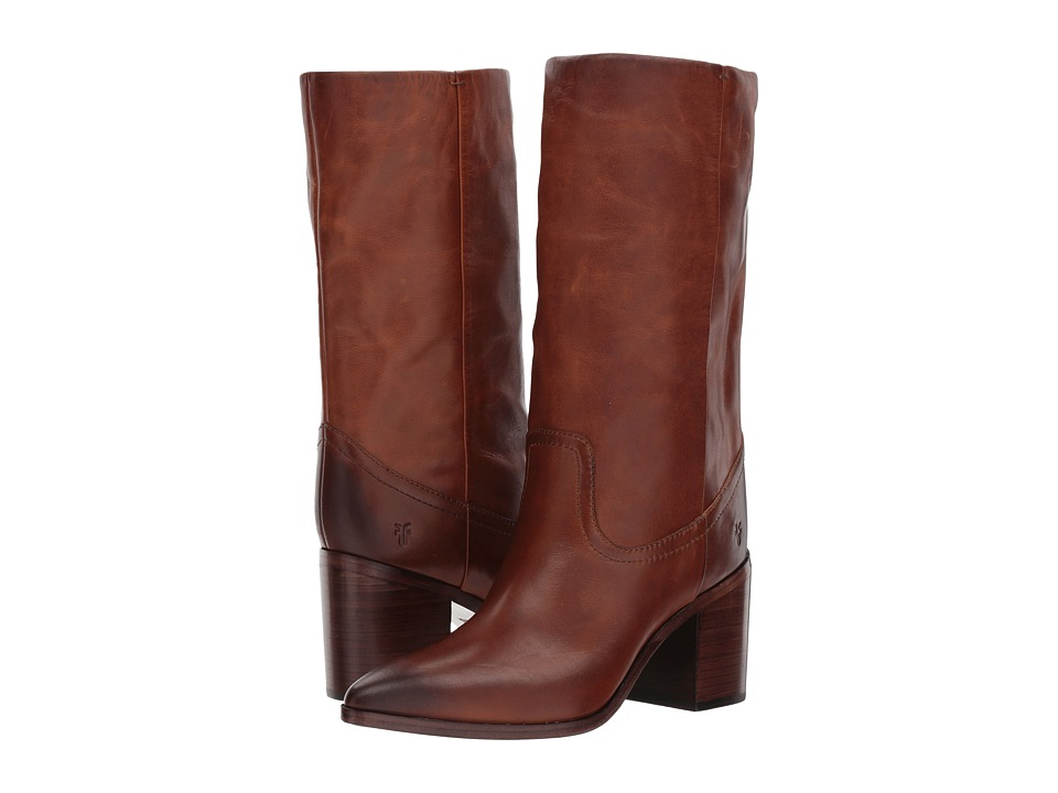 Frye Flynn Mid Pull-On (Cognac) Women