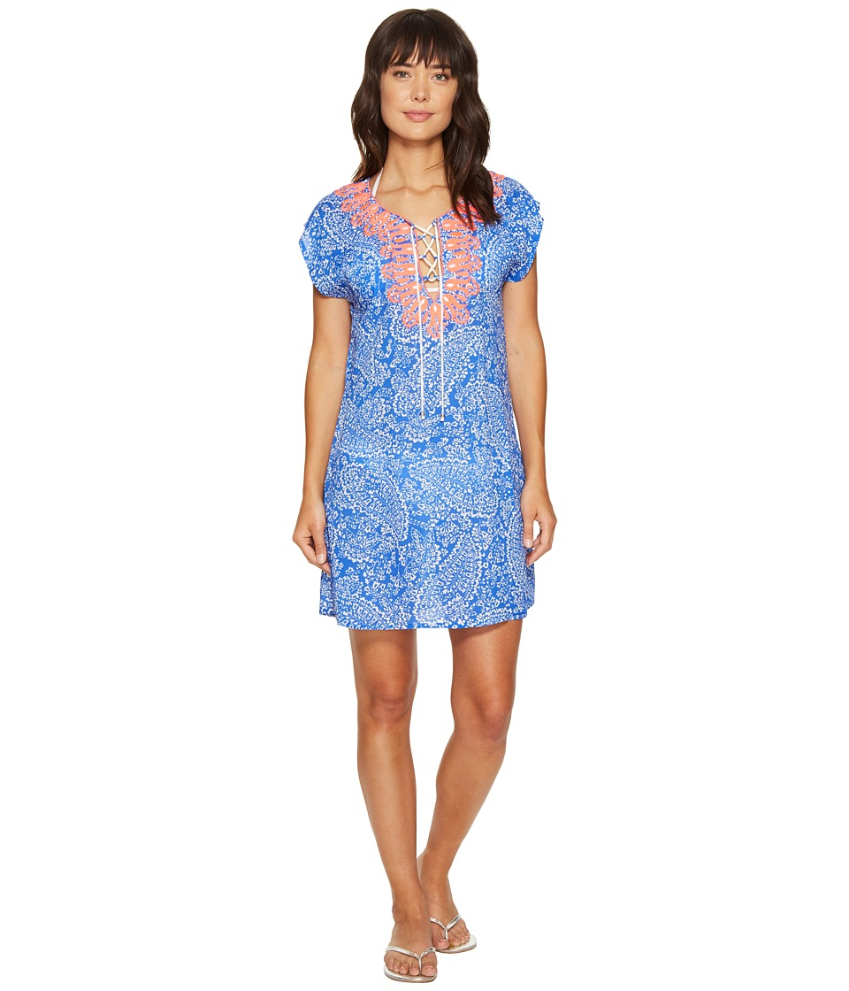 Nautica - Cottage Paisley Tunic Cover-Up (Azure) Women's Swimwear