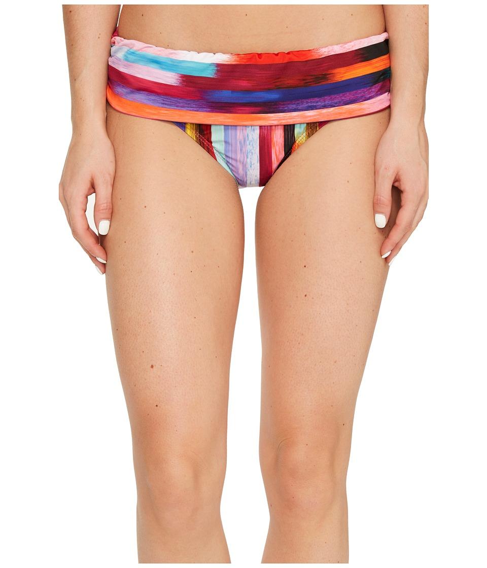 Athena - Kaliedostripe Lani Banded Bikini Bottom (Multi) Women's Swimwear