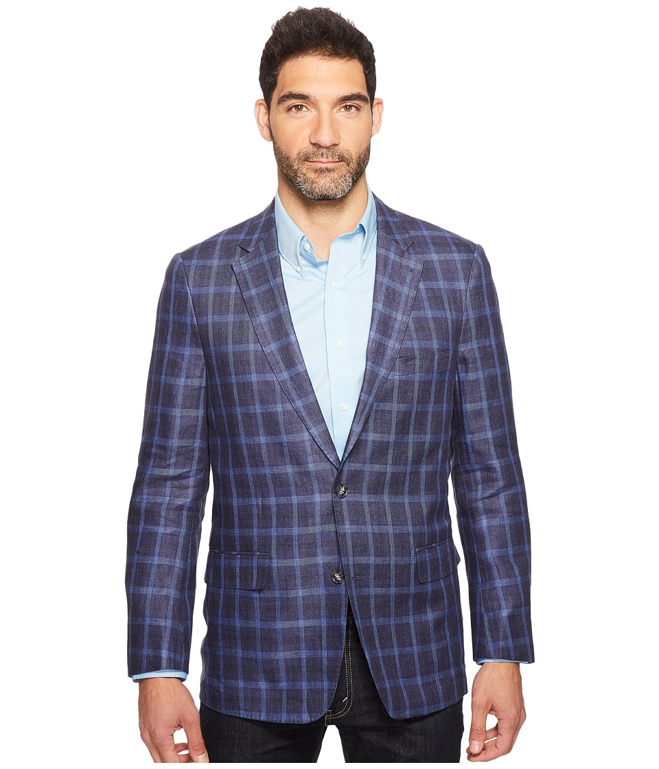 Kroon - Taylor Two-Button Washed Coat (Blue) Men's Coat