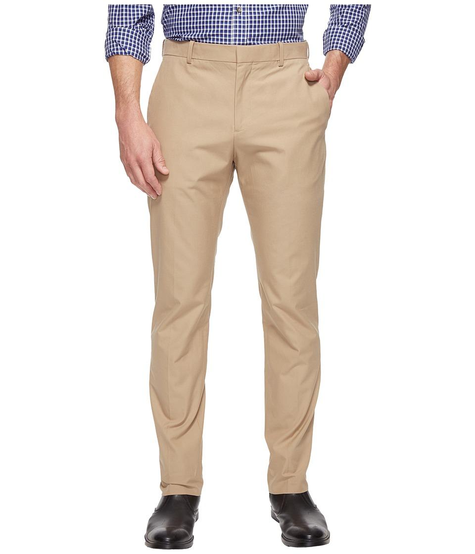 Perry Ellis Slim Fit Travel Luxe Cotton Pants (Pale Khaki) Men