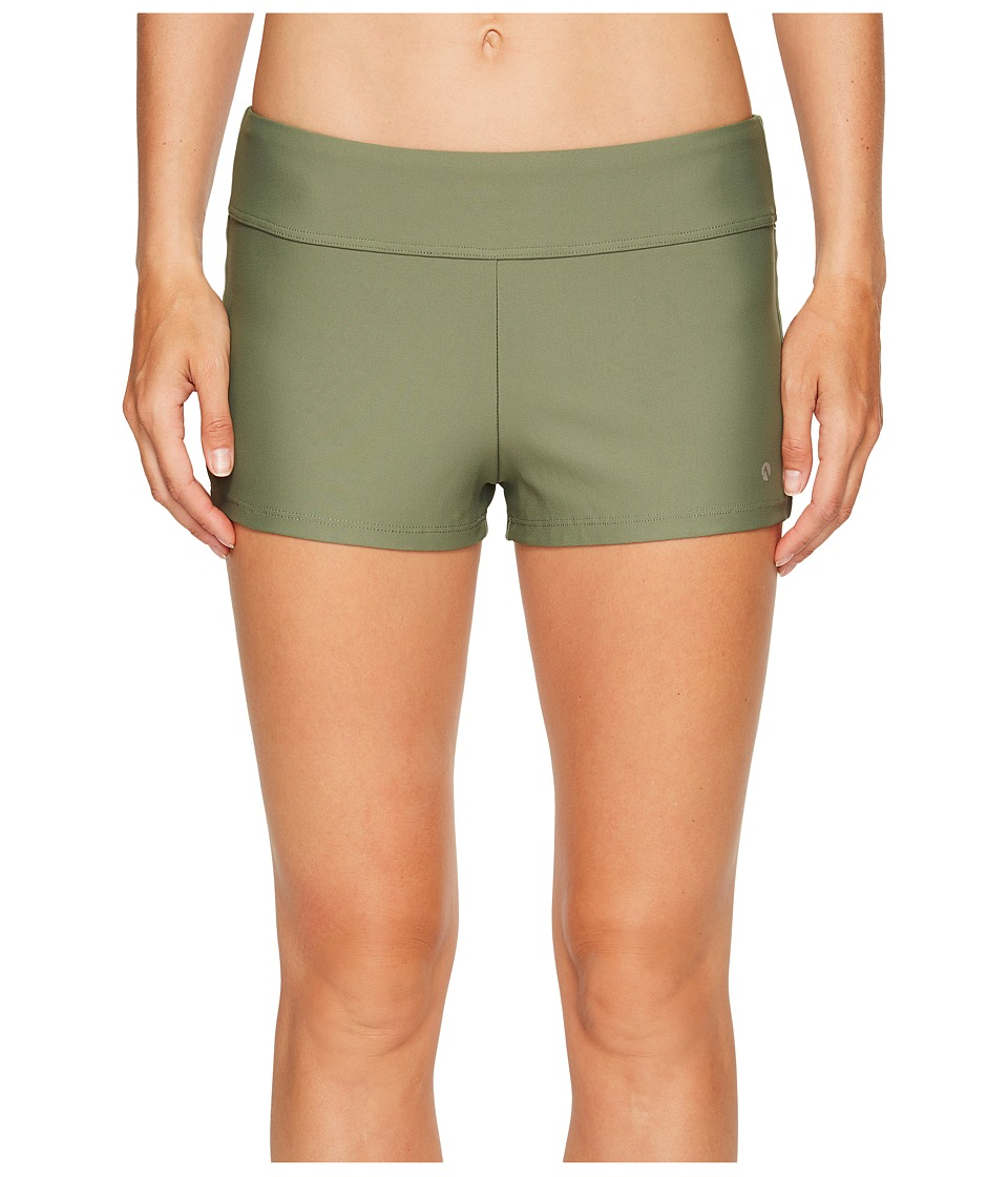 Next by Athena Good Karma Jump-Start Swim Shorts (Olive) Women