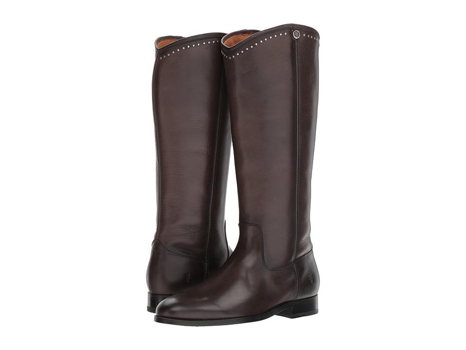 Frye Melissa Button Stud (Smoke) Cowboy Boots